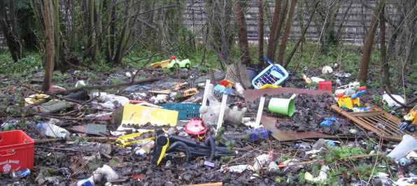 Ewell Fly Tipping Cleanup